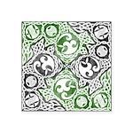 Celtic Puzzle Square Square Sticker 3