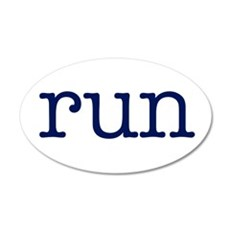 run_blue_sticker2.png 22x14 Oval Wall Peel