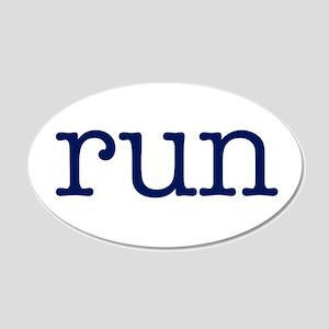 run_blue_sticker2 22x14 Oval Wall Peel