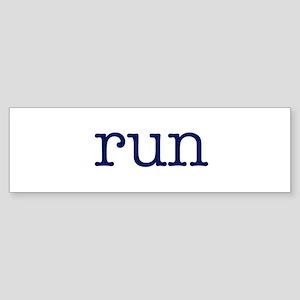 run_blue_sticker2 Sticker (Bumper)