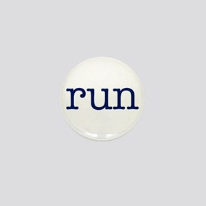 run_blue_sticker2 Mini Button
