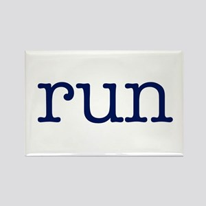 run_blue_sticker2 Rectangle Magnet