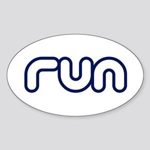 run_blue_sticker Sticker (Oval)