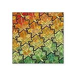 Celtic Leaf Tesselation Square Sticker 3