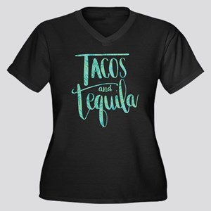 Tacos and Te Women's Plus Size V-Neck Dark T-Shirt