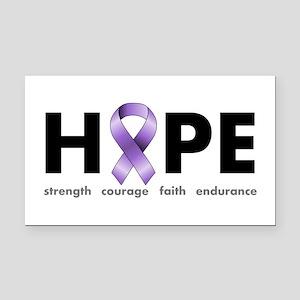 Purple Ribbon Hope Rectangle Car Magnet