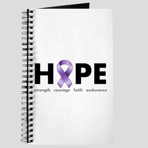 Purple Ribbon Hope Journal