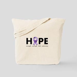 Purple Ribbon Hope Tote Bag