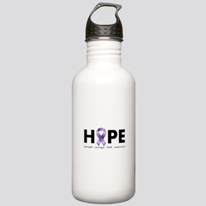 Purple Ribbon Hope Stainless Water Bottle 1.0L