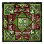 Celtic Dragon Labyrinth Square Car Magnet 3