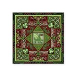 Celtic Dragon Labyrinth Square Sticker 3