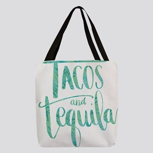 Tacos and Tequila Print Polyester Tote Bag
