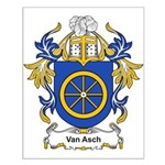 Van Asch Coat of Arms Small Poster