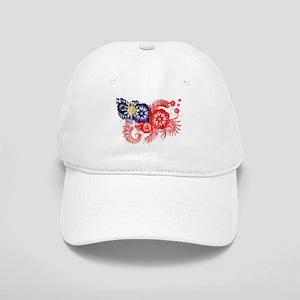 Taiwan textured flower aged copy Cap