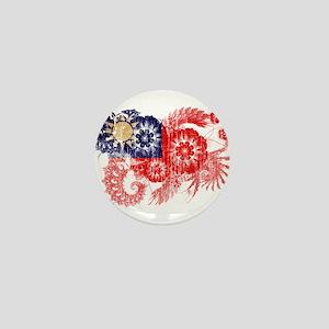 Taiwan textured flower aged copy Mini Button