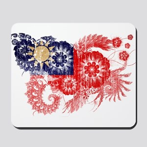 Taiwan textured flower aged copy Mousepad
