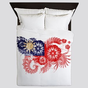Taiwan textured flower aged copy Queen Duvet