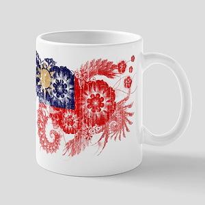 Taiwan textured flower aged copy Mug
