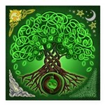 Circle Celtic Tree of Life Square Car Magnet 3