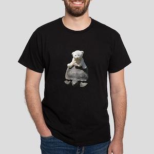 Toy stuffed bear riding a real turttle Dark T-Shir