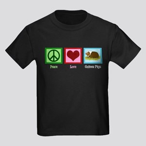 Peace Love Guinea Pigs Kids Dark T-Shirt