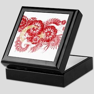 Turkey textured flower aged copy Keepsake Box