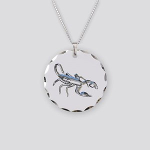 Chrome Scorpion 1 Necklace Circle Charm