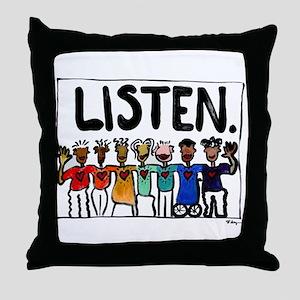 Listen Throw Pillow
