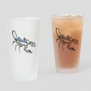 Chrome Scorpion 1 Drinking Glass
