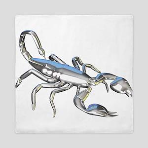 Chrome Scorpion 1 Queen Duvet