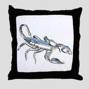 Chrome Scorpion 1 Throw Pillow