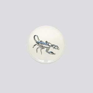 Chrome Scorpion 1 Mini Button