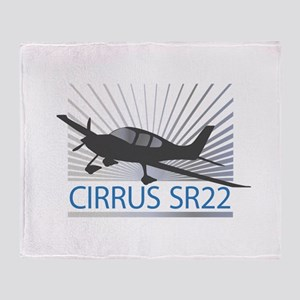 Aircraft Cirrus SR22 Throw Blanket