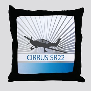 Aircraft Cirrus SR22 Throw Pillow