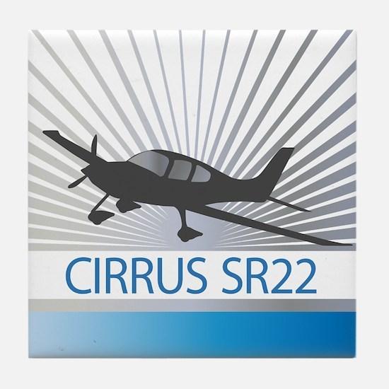 Aircraft Cirrus SR22 Tile Coaster