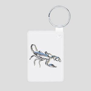 Chrome Scorpion 1 Aluminum Photo Keychain