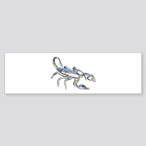 Chrome Scorpion 1 Sticker (Bumper)