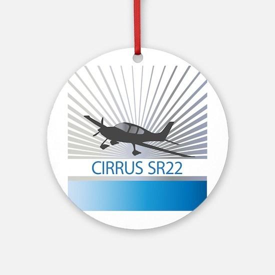 Aircraft Cirrus SR22 Ornament (Round)