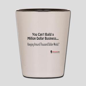 Million Dollar Biz Text Shot Glass