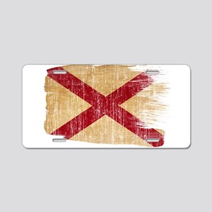 Alabama Flag Aluminum License Plate