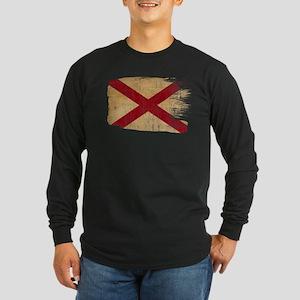 Alabama Flag Long Sleeve Dark T-Shirt