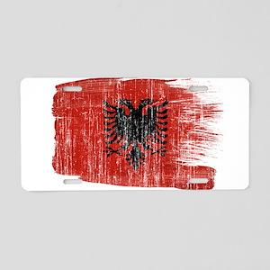 Albania Flag Aluminum License Plate