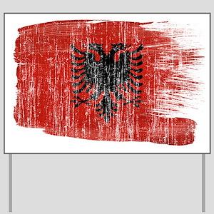 Albania Flag Yard Sign