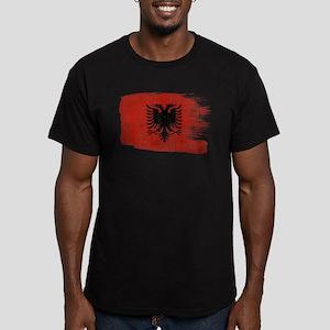 Albania Flag Men's Fitted T-Shirt (dark)