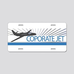 Aircraft Corporate Jet Aluminum License Plate