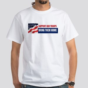 Support our troops White T-Shirt