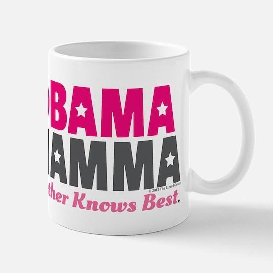 Obama Mamma - Pink/Dark Grey Mug