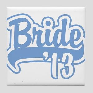 Baseball Blue Bride 2013 Tile Coaster
