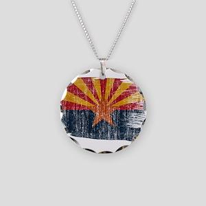 Arizona Flag Necklace Circle Charm
