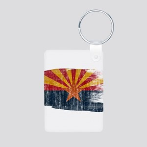 Arizona Flag Aluminum Photo Keychain